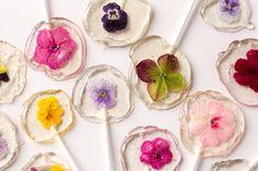 Paletas de flores / flower lolipops