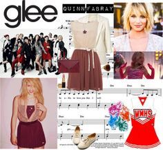 """""""Glee: Quinn Fabray"""" by fragileannie ❤ liked on Polyvore"""
