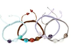 Soul Journey Triple Semi-Precious Stone Bracelet from Donna D'Cruz on OpenSky