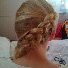 Dutch braid i did for my friend