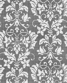 Knitting Inspiration: Damask cross stitch pattern