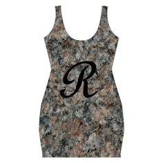 Pink And Black Mica Letter R Full Print Bodycon Dress. Design is also without the letter R.