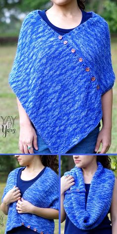Free Knitting Pattern for Repeat Convertible Diamond Wrap - This versatile accessory is knit with an 8 row repeat diamond texture. You can wear it as a shawl, scarf, cowl, or even a poncho! Designed by Yay For Yarn Patterns. Fall Knitting Patterns, Lace Knitting, Knit Crochet, Knit Wrap Pattern, Knitted Poncho, Poncho Scarf, Scarf Design, Shawls And Wraps, Capelet