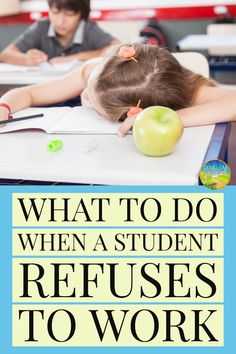 What To Do When a Student Refuses to Work Use these tips, tricks, strategies, and resources to help develop a plan when students refuse to work. Avoid getting in a power struggle, keep the. Elementary School Counseling, School Social Work, School Classroom, Power School, Elementary Art, Primary School, Classroom Discipline, Classroom Behavior Management, Teaching Strategies