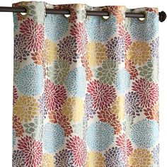 Multi-colored Bloom Garden Curtain - Polyester