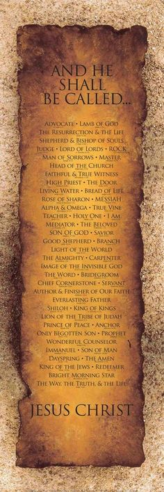 Names of Christ - For more, visit http://www.pinterest.com/AliceWrenn/