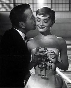 Bogart and Audrey in Sabrina 1954