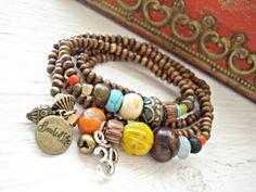 Yoga Bracelet  Yoga Jewelry  Om Bracelet  by HandcraftedYoga, $41.00