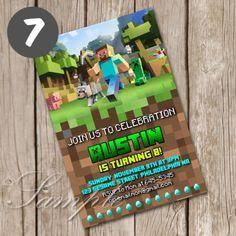 Sabriannab i will do paw patrol and minecraft birthday invitation digital birthday invitation game film series kids wish stopboris Images