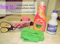 MONEY SAVER: how to make your own fabric softener sheets!