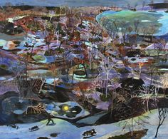 Sophia Heymans artwork. Large scale lively landscape paintings. Twelve Month Series. Recent Work. Past Work.