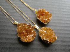Citrine Necklace Citrine Druzy Pendant Citrine Crystal Citrine Jewelry Citrine Cluster Crystal Gold Dipped Stone November Birthstone Boho by SinusFinnicus on Etsy https://www.etsy.com/listing/236217034/citrine-necklace-citrine-druzy-pendant