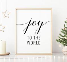 Joy To The World Printable Art Christmas Printable Wall Art Printing Websites, Online Printing, Quote Prints, Art Prints, Merry Christmas Quotes, Office Printers, Joy To The World, Christmas Printables, Printable Wall Art
