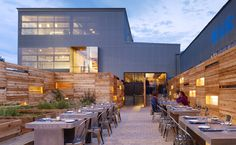 The outdoor space of Bar Agricole in San Fran is primed for a private party.