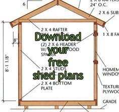 Free Shed Plans | Building A Shed
