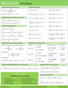 Since it's been three years since I've taken calc, and it will be on the exit exam to graduate. this could be helpful.