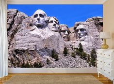 Stone Mountain Photo WALLPAPER MURAL Wall ART Room Rushmore Sculpture POSTER #Unbranded
