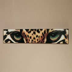 Leopard Eyes Canvas Art, loving this Oil Painting On Canvas, Canvas Wall Art, Painting Art, Leopard Eyes, Leopard Wall, Cheetah Print, Afrique Art, Safari Decorations, Home And Deco