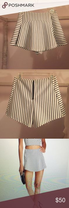 Striped Skort Brand New. Never worn. This size was too big on me so I got a smaller size! Still has the packaging. Looks exactly like LF skirt but is not LF. Just put LF for views! This skirt is Free Press! Open to offers :) LF Shorts Skorts
