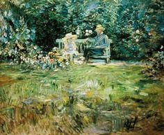 Berthe Morisot - The Lesson in the Garden