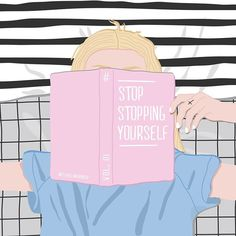 Frase motivacional: Stop stopping yourself <3 @sublinhando
