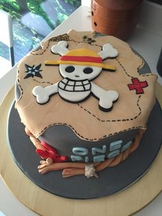 Beautiful Birthday Cakes, Beautiful Cakes, Amazing Cakes, 14th Birthday Cakes, Funny Birthday Cakes, Fondant Cakes, Cupcake Cakes, One Piece Birthdays, Anime Cake