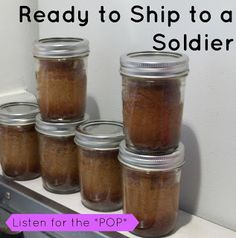 Ramblings of a Caffeinated Army Wife: Banana Bread in a Jar, Ship a bit of Home Overseas