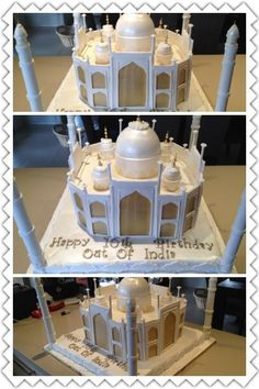 Taj mahal huge cake custom landscape