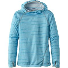 Features of the Patagonia Women's Sunshade Hoody Lightweight, quick-drying Polyester double knit with sun protection Straight cuffs with thumb holes for additional sun protection for the backs of the hands Hidden zip closure on lower front pocket My Father's Daughter, Rock Climbing Shoes, Warm Socks, Recycled Fabric, Outdoor Outfit, Vest Jacket, Patagonia, Winter Jackets, Hoodies