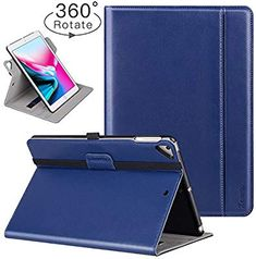 Shades of Blue Fintie iPad 9.7 inch 2018 2017 // iPad Air Case 6th Gen, 5th Gen // iPad Air 2013 Model 360 Degree Rotating Stand Smart Protective Cover with Auto Sleep Wake for iPad 9.7 inch