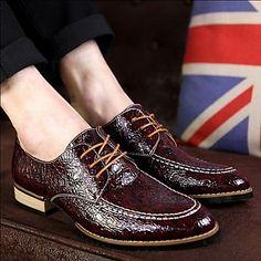 herenschoenen ronde neus platte hak oxfords met kant-up schoenen meer kleuren beschikbaar - EUR € 41.99