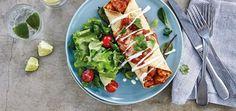 Cook Chicken Enchiladas tonight with a Latin American Twist! Chicken Wrap Recipes, Chicken Wraps, Fajita Seasoning Mix, Chicken Breast Fillet, Santa Maria, Mexican Food Recipes, Ethnic Recipes, Tasty, Yummy Food