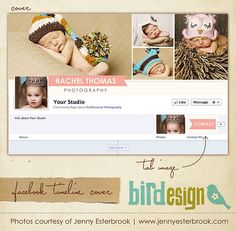 Facebook custom timeline cover  E346 by birdesign on Etsy, $8.00
