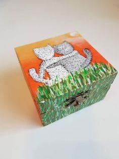 Cat jewelry box - love presents - love gift - wedding cats art - cat gift - cat trinket box - keepsake box - cat lover gift - jewellery box