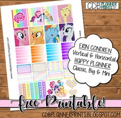 Free Printable My Little Pony Planner Stickers from CDB Planner Prints
