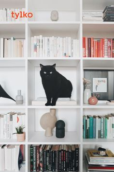 It's time to live better. Bring harmony to your home with a smart, sleek and stylish Tylko shelf. Bookshelves, Bookcase, Living Room Decor, Bedroom Decor, Design Bedroom, Bedroom Ideas, Ideas Dormitorios, Deco Rose, Time To Live