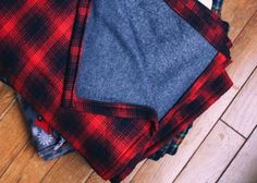 75 Easy Sewing Projects You Should Try via Brit + Co.// flannel throw for camping
