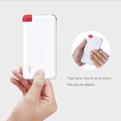9.9 USD #amazonpromotion 8000mAh #powerbank slim as your iphone powerful cell phone Promotion Code W74ROKA3