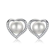 Funky 925 Sterling Silver Mother Of Pearl 9mm Round Stud Earrings with Gift Box