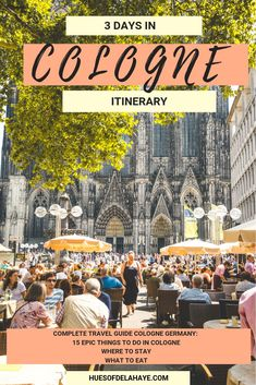 In this 3 Days in Cologne Itinerary. There is 15 Epic things to do in Cologne Germany. This guide also includes the best food to try in Cologne, how to climb the Cathedral and visit the Old Town, Chocolate museum and some of the most beautiful places in Cologne. This is the only guide you'll need to know what to do in Cologne