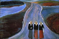 Marianne Von Werefkin,  The Country Road, 1907.