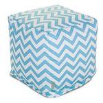 Indoor Cube Tiffany Blue Chevron - Majestic Home Goods