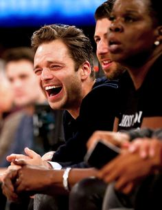 Sebastian Stan. Laugh that laugh!!!