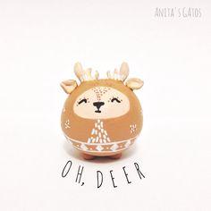 Oh Deer / Deer Totem / Deer Figurine / Handmade by AnitasGatos, $18.00