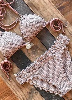 38 Summer Free Crochet Bikini Pattern Design Ideas for This Year - Daily Crochet! Boho Crochet, Crochet Bikini Bottoms, Crochet Bikini Pattern, Crochet Woman, Free Crochet, Knit Crochet, Ravelry Crochet, Crochet Style, Basic Crochet Stitches