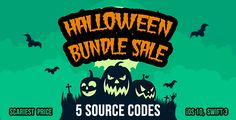Halloween Bundle Sale - 5 source codes in iOS 10 and Swift 3 . Halloween has features such as Compatible With: Swift, Software Version: iOS 10.0.x