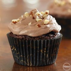 Brownie Cupcakes with Hazelnut Buttercream Frosting are homemade dessert recipe that's perfect for the chocolate lover in your life. Topped with frosting made from scratch, these cupcakes are the best dessert for any occasion.