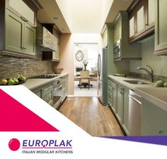 In order to create a more aesthetically pleasing view when sitting in the adjacent room, relocate the refrigerator and microwave to the opposite wall in the kitchen. For more details Visit : http://www.europlak.in/ #EuroplakIndia #ModularKitchen #ModularKitchenDesigns
