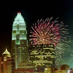 Fun Places To Go, My Kind Of Town, Charlotte Nc, Empire State Building, Fireworks, North Carolina, Travel, Viajes, Trips