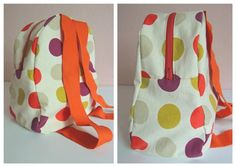 Toddler backpack. Pattern and tutorial. Website in Spanish...just use google translate.